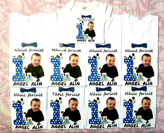 Tricouri personalizate pentru aniversare /băiețel