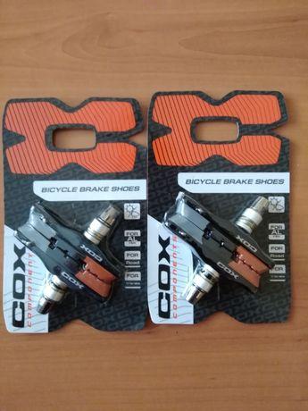Колодки COX VBS-709 72mm три цвята v-brake