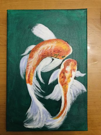 Картина «Рыбки кои»