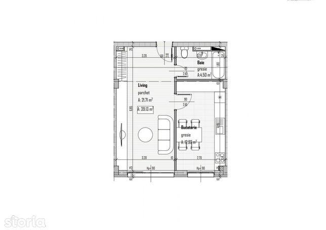 Apartament 1 camera in zona Baciu