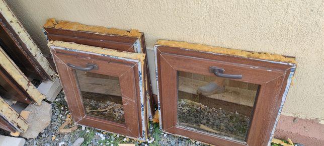 Geamuri ferestre 50% reducere termopan maro wenge