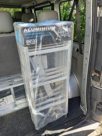 ТОП ЦЕНА 100лв:  Нова алуминиева сгъваема стълба 4х3