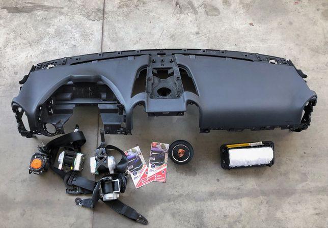 Porsche Cayenne p7 7p Panamera 970 kit airbag plansa bord airbag volan