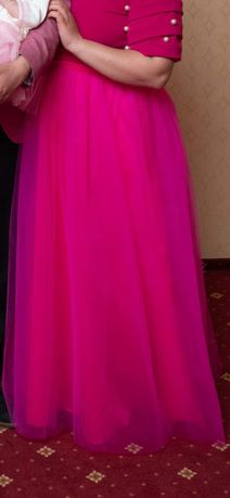 Fustă Tulle roz fuchsia