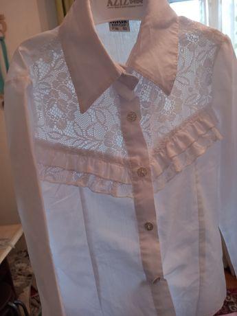 Белая школьная блузка -рубашка