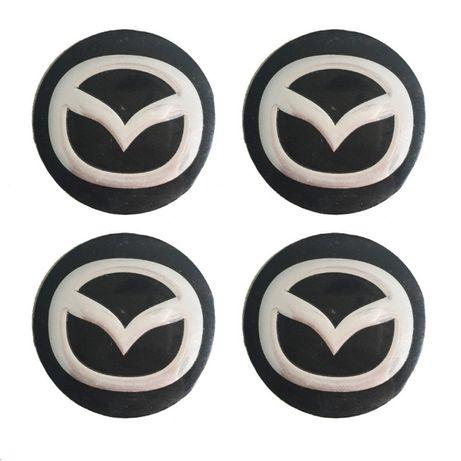 метални стикери за Мазда MAZDA 58мм 4 броя комплект емблеми за капачки