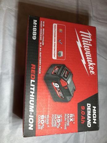 MILWAUKEE m18 acumulator, baterie 9Ah HD, NOU