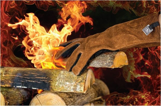 Manusa termica rezistenta la foc pentru seminee, sobe, gratare