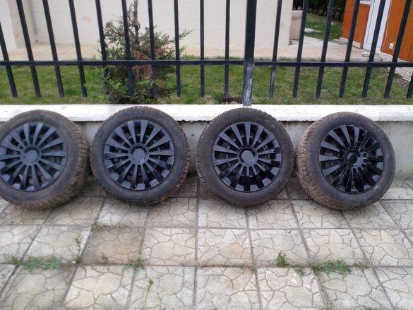 205/55/16 зимни гуми с железни джанти за Бмв 5х120