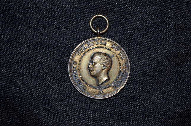 MEDALIE ARGINT -Vittorio Emanuele III Re D'Italia -Medal of Remembrace
