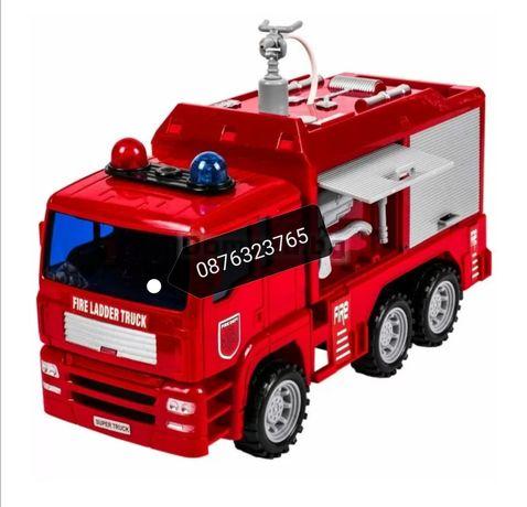 Детска пожарна кола пръскаща вода Детски играчки пожарни коли