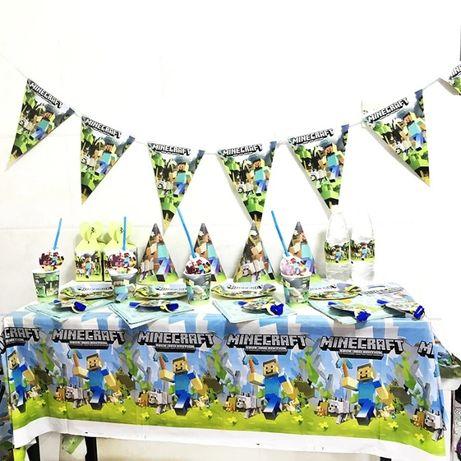 Майнкрафт парти украса декорация рожд ден Маинкрафт 72 части Minecraft