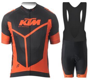 Echipament ciclism KTM set pantaloni tricou jersey bib