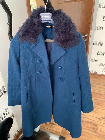 Кокетно синьо палто