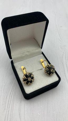 Серьги с бриллиантами , золото 585 Россия, вес 10.19 г. №21847