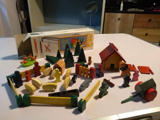 Joc din lemn vintage Hansel si Gretel