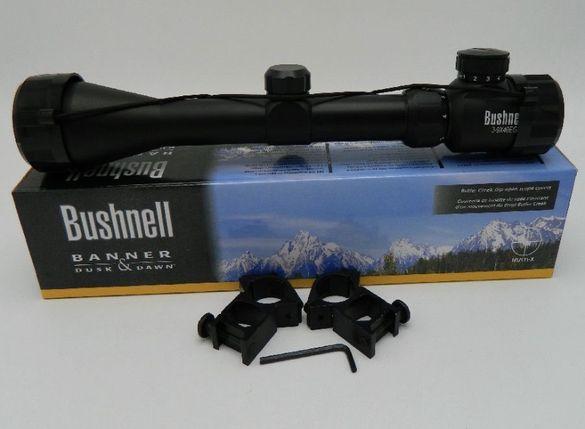 ОПТИКА 3-9х40E Bushnell / оптика за пушка / мерник / прицел+ скоби