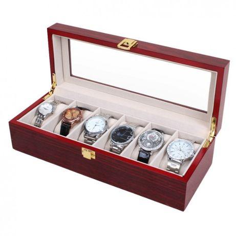 Cutie depozitare organizare 6 ceasuri LEMN Cutie organizare ceasuri
