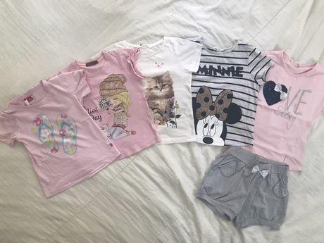 Тениски, дънки, рокля, клин и комплект, 110-116 размер, до 10 лв