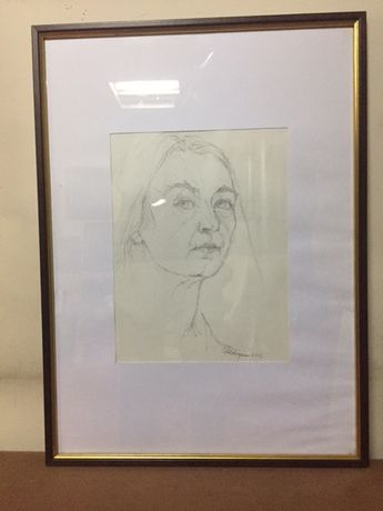Tablou,Schita Portret,Autentic Giulia Albergamo(1914-2015)!