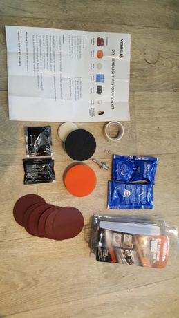 Професионален ремонтен комплект за полиране на фарове