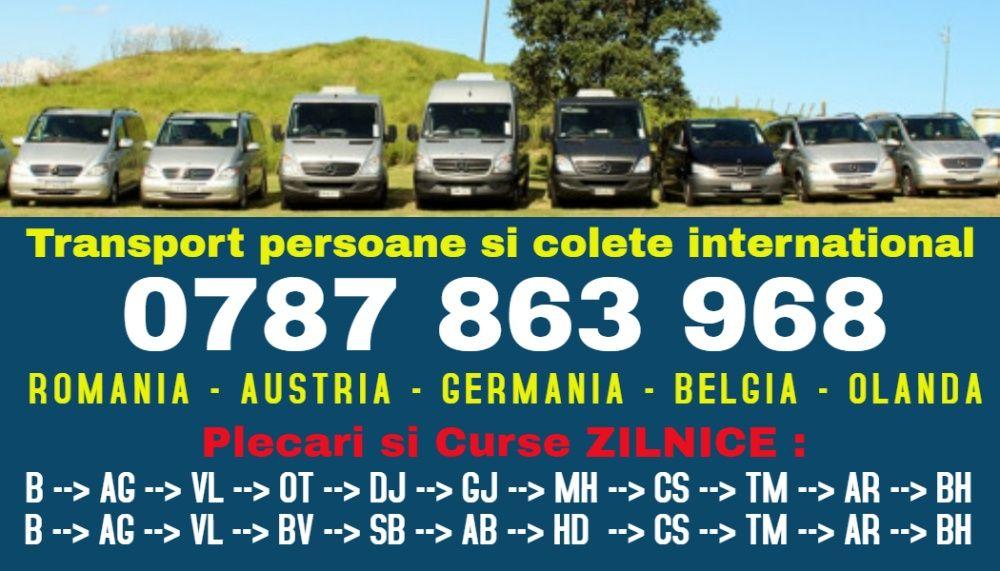 ZILNIC transport persoane cs r Romania Austria Germania plecari adresa Resita - imagine 1