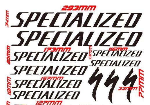 Set stickere profesionale cadru bicicleta Specialized