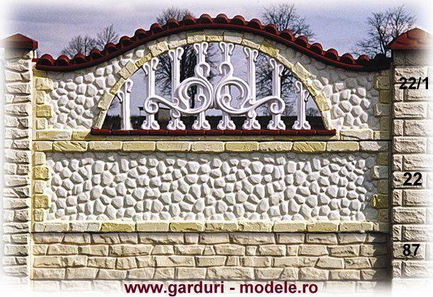 Gard placi prefabricate din beton loc.Negresti