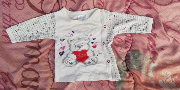 Бебешка блуза 0- 3 м. с предно закопчаване