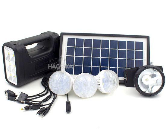 Мобилна соларна къмпинг система, зарядно, 3 лампи, слънчев панел, аку