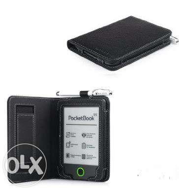 "Калъф PocketBook mini 515+Stylus, кожен кейс case 5"" екран/ 6,5"" корпу"