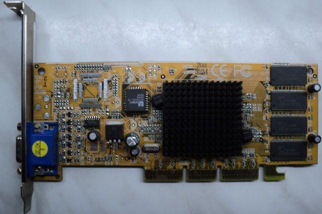 Placa Video AGP GeForce 2 MX 100-200 32 Mb