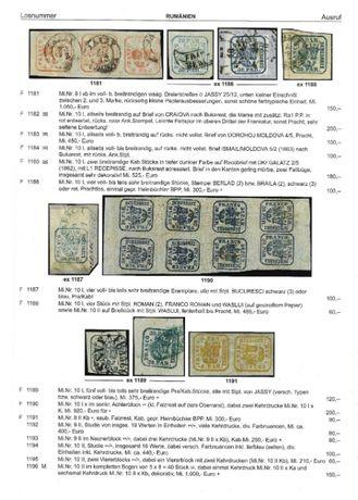 Carte catalog superb de licitatie filatelica, ilustratii color