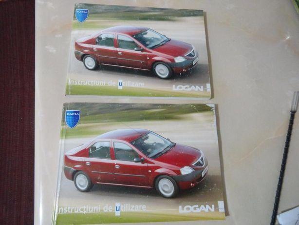 Carte tehnica(manual utilizare) Dacia Logan+scrumiera si cric