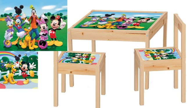 Masute copii+2 scaunele din lemn masiv
