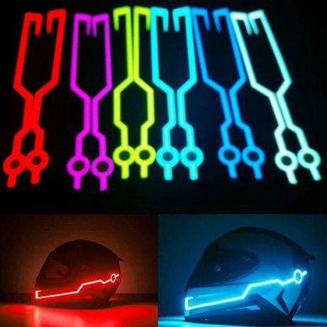 Kit de Lumini Banda Led Stripe Neon Casca Moto Bicicleta cu USB