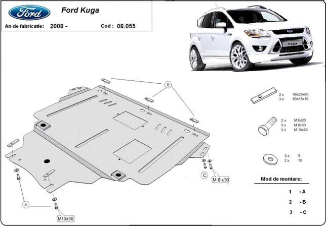 Scut motor metalic pentru Ford Kuga 2008-prezent - otel 2mm