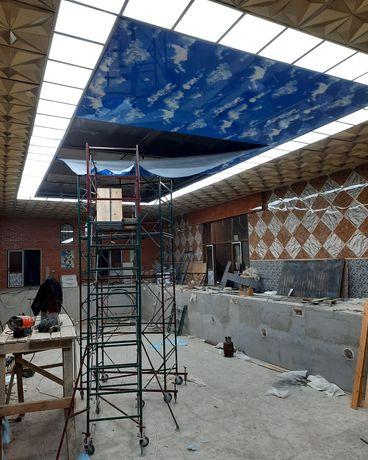 Натяжные потолки Аренда Бетономешалка отбойный молоток генератор леса