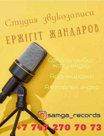 Студия звукозаписи/Дауыс жазу/Аранжировка/Дыбыс жазу.