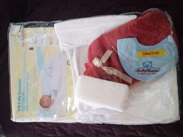 Бебешки матрак антирефлукс с бутилка за гореща вода