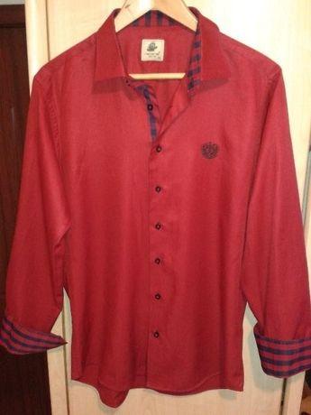 Младежка мъжка риза RAVANELLI , тъмно червена