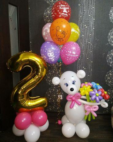 Гелиевые шары и композиции из шаров.
