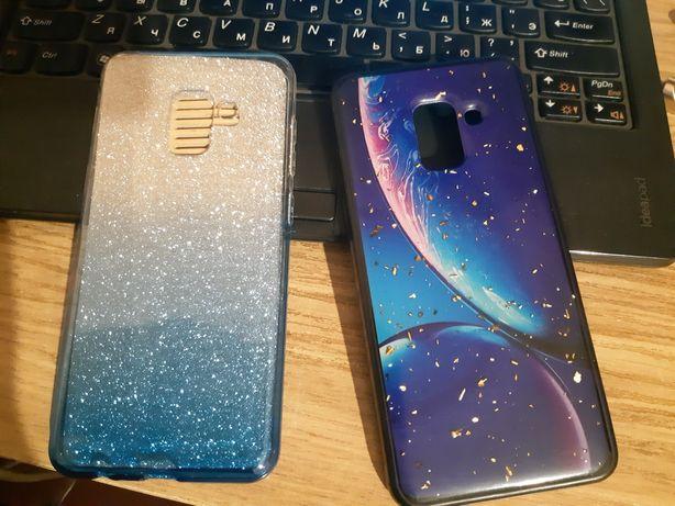 2 чехла на Samsung A8 за 1000 тг.