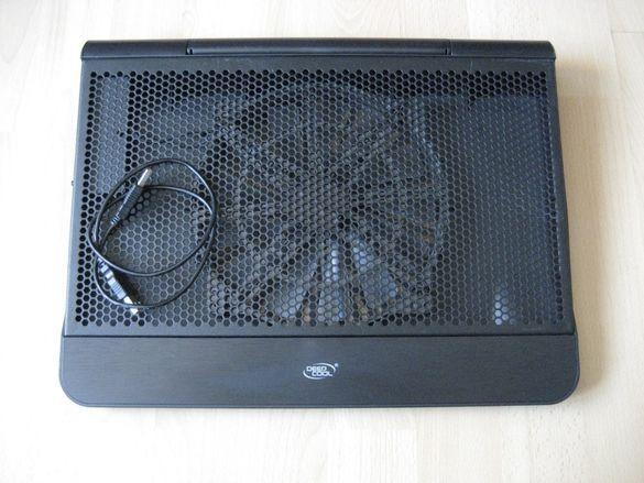 """Охладител за лаптоп DeepCool N6000 17"""", USB, Blackю"""