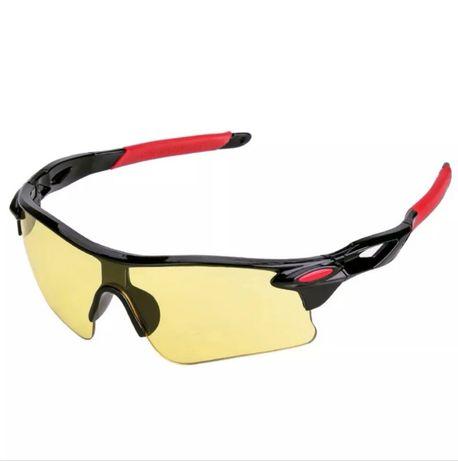Ochelari Ciclism Unisex Rosu-Negru