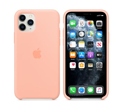 Силиконов Кейс Apple с лого за iPhone 11/Pro/Max/12/Mini/XS/XR/SE 2/8