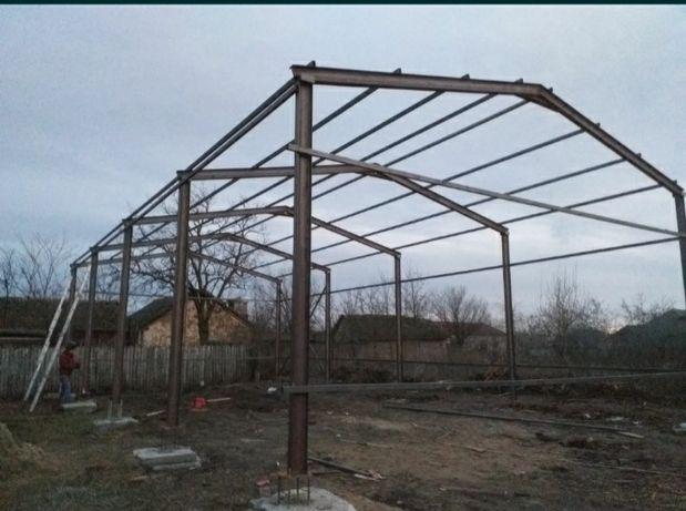 Structura metalică/ depozit 12x30x5 din profil hea 270