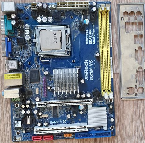 Материнская плата lga 775 + процессор + озу