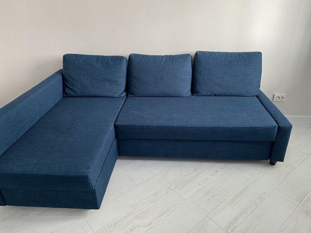 Диван ikea, цвет синий, в стиле нео классика.