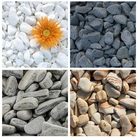 Pietricele rotunjite marmura thasos piatra decorativa marmura alba bej